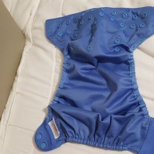 Blue diaper cover